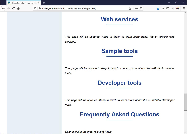 Europass web site
